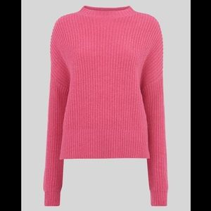 Whistles Ribbed Oversized Sweater in Pink S